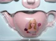 The pink Barbie tea set