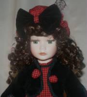 Winter doll w/sleigh Anne